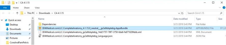double click app bundle file