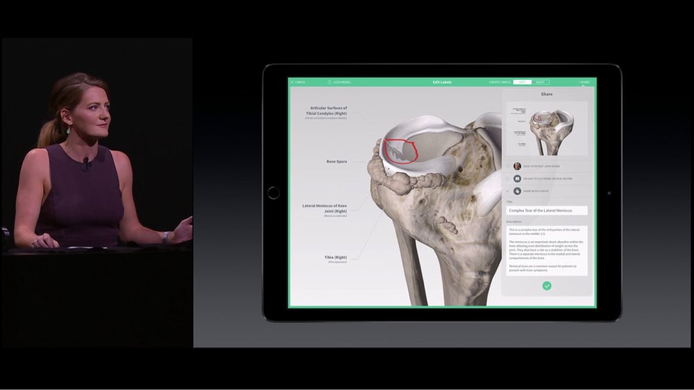 Irene Walsh presents Complete Anatomy at the 2015 Apple Keynote
